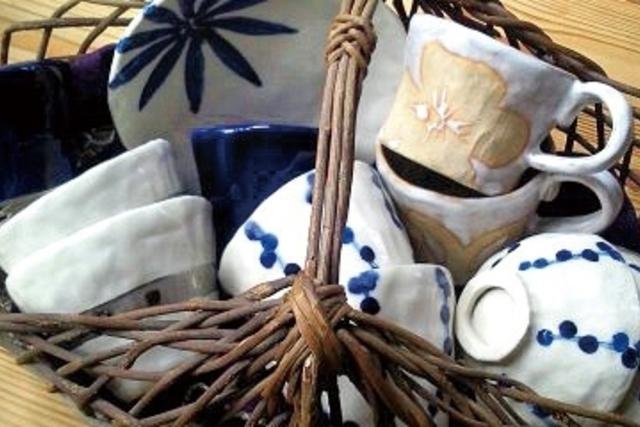 【やかまし村のギャラリー】しおり窯 マグカップとお湯呑とお茶碗 展